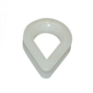 Cosse coeur nylon blanc