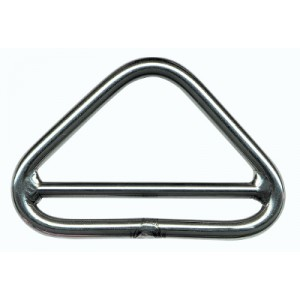 Triangle barré inox 316L
