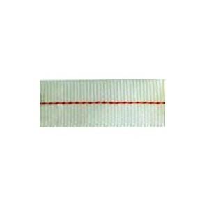 Sangle polyester tubulaire - Ecrue et fil couleur