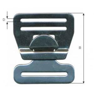 Boucle de harnais 45mm inox 316