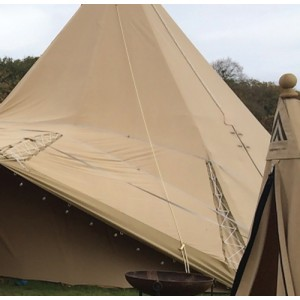 Tissu non feu pour toile de tente, yourte, tipi, auvent de caravane, camping, scout, militaire